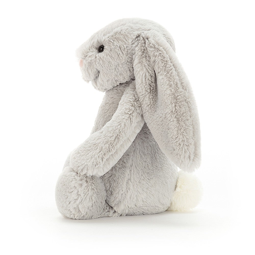 Jellycat Bashful Silver Bunny - Medium - Dimple and Dot