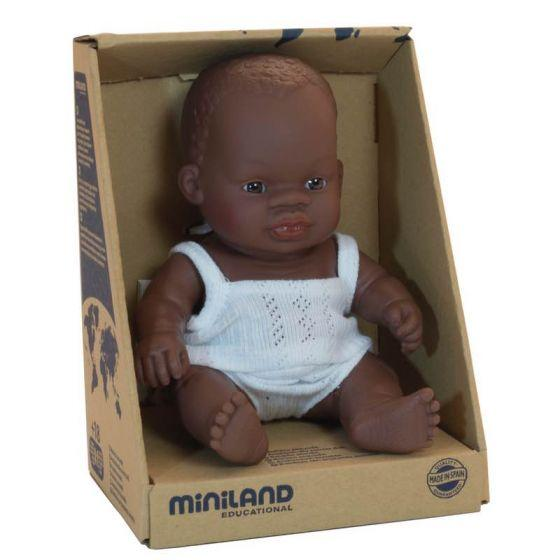 Miniland African Girl Doll - 21cm - Dimple and Dot