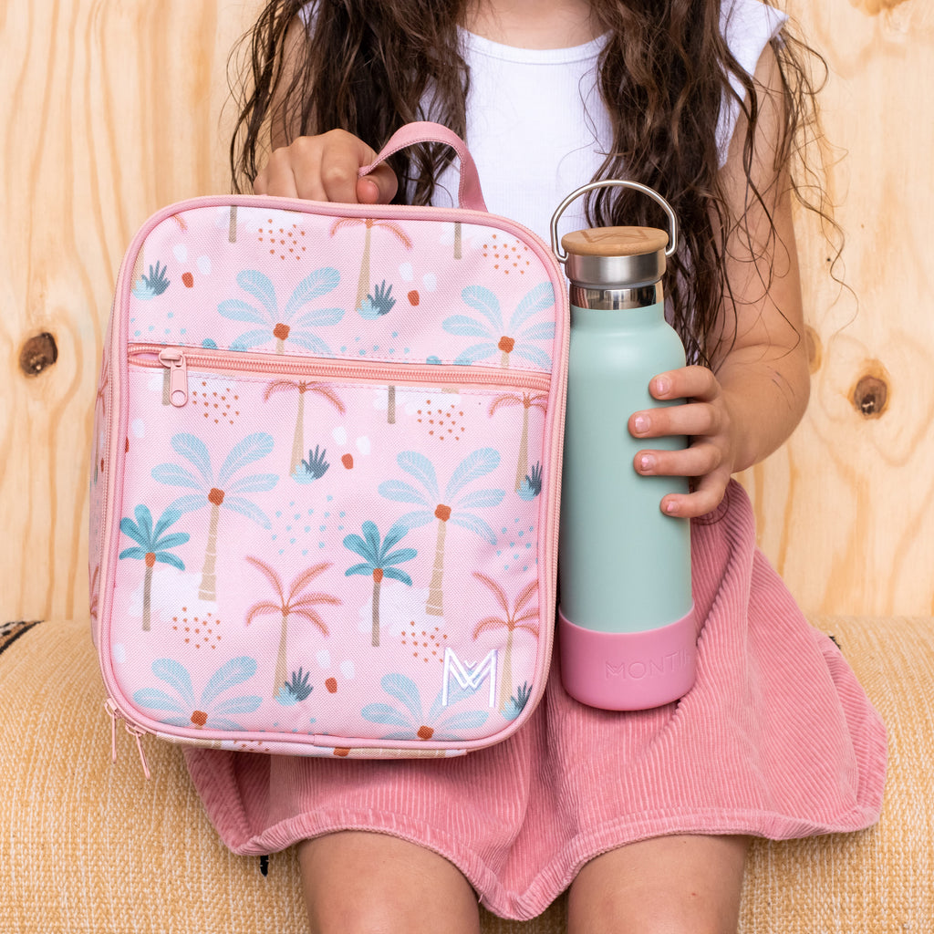 Insulated Lunch Bag - Boho Palms - Dimple and Dot