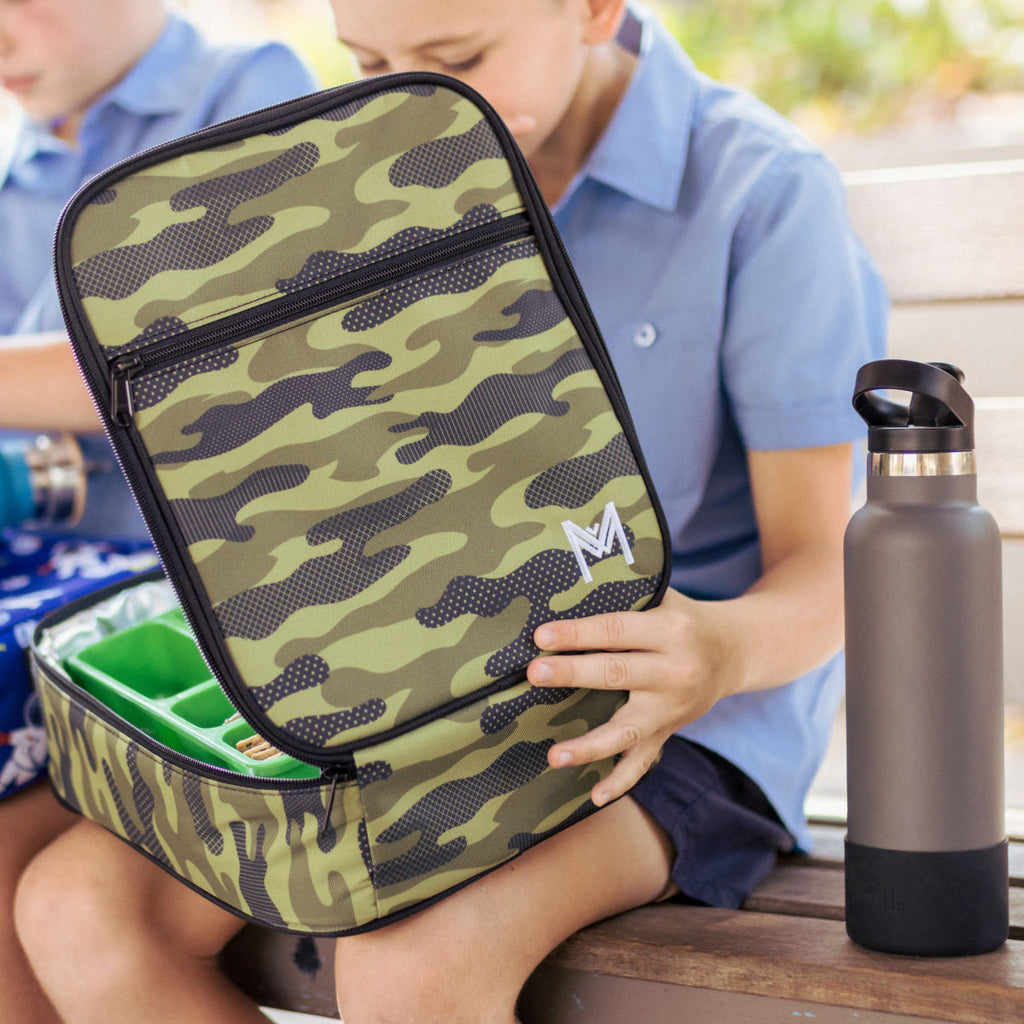 Insulated Lunch Bag - Camouflage - Dimple and Dot