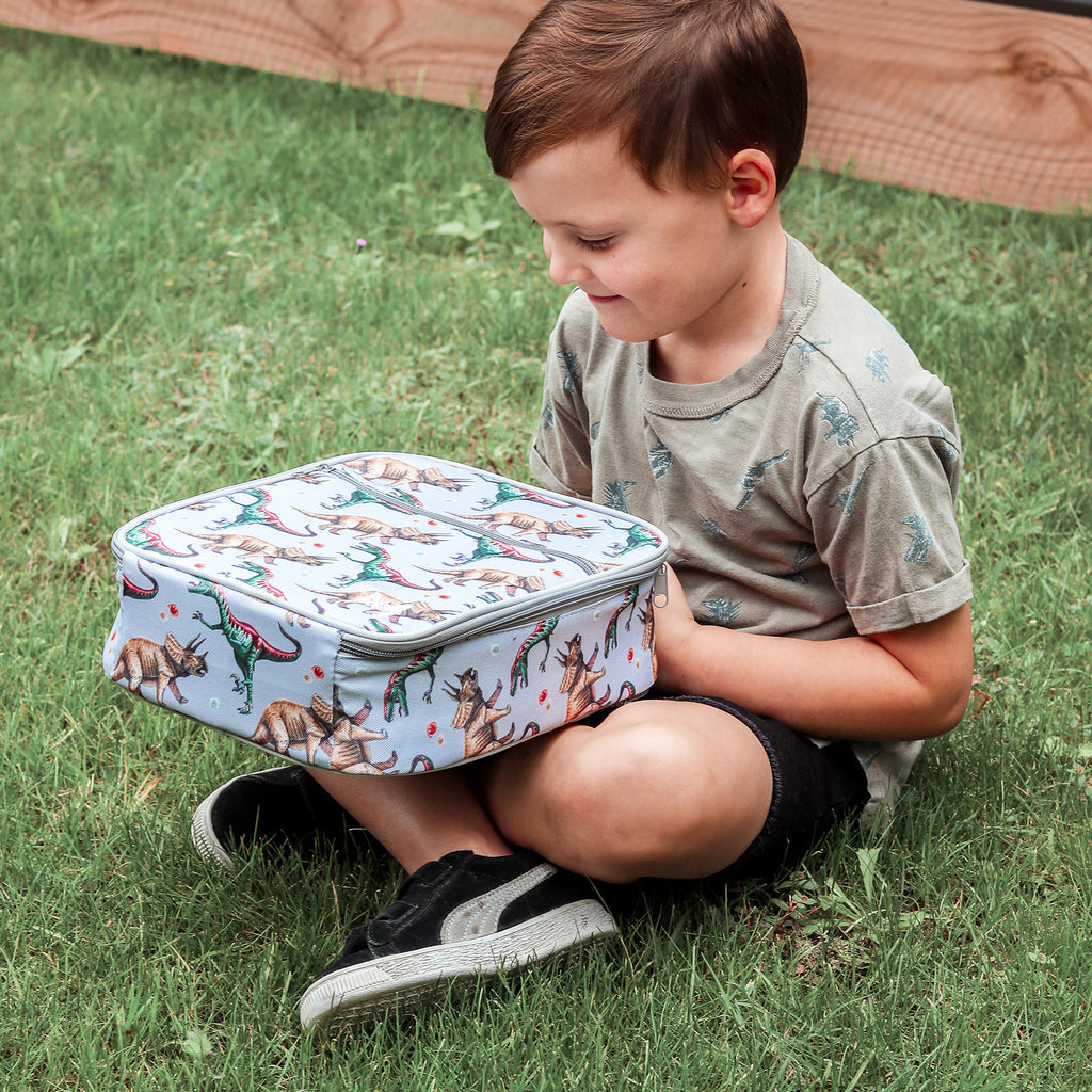 Insulated Lunch Bag - Dinosaur - Dimple and Dot