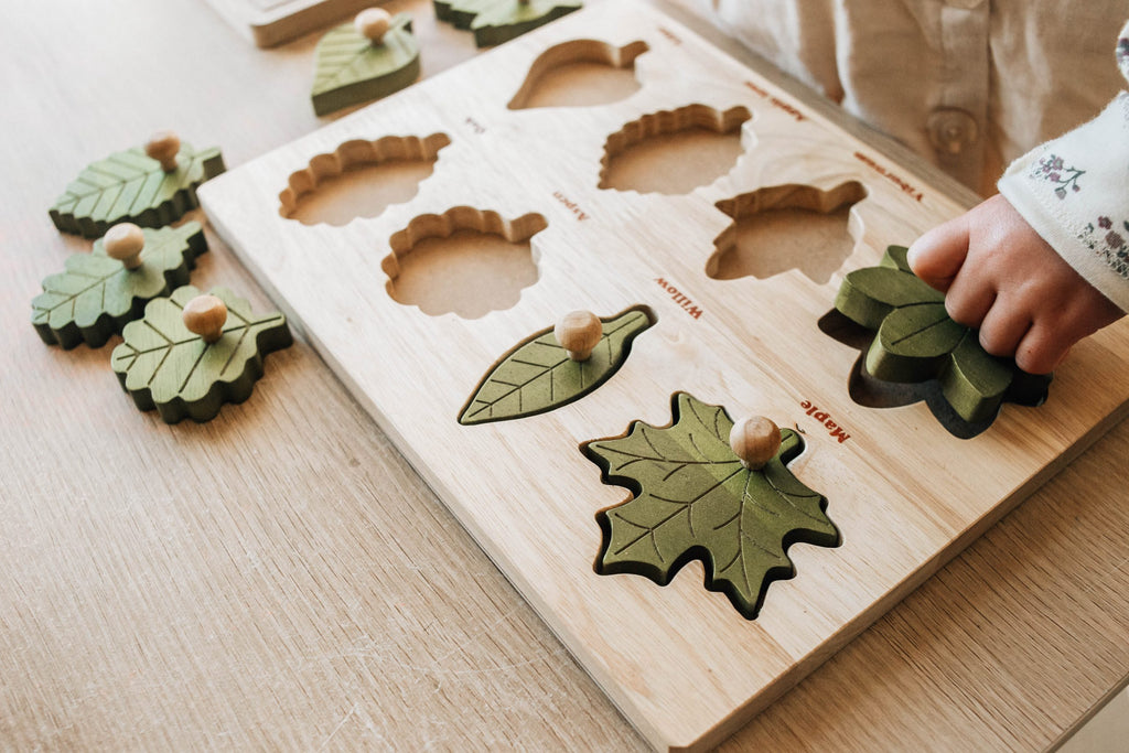 Montessori Leaf Puzzle - Dimple and Dot