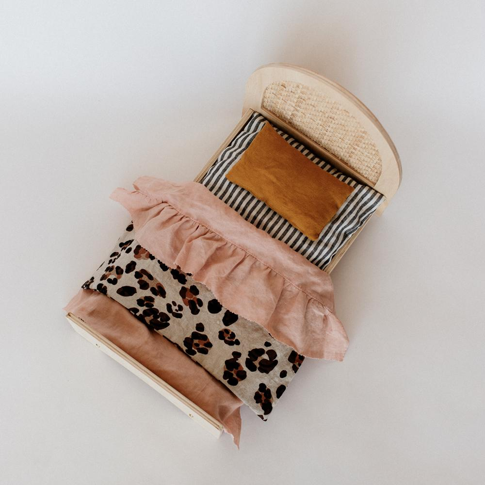 Wooden Woven Doll Bed - Dimple and Dot