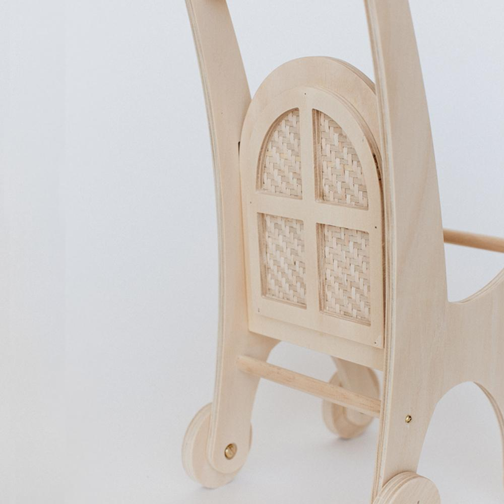 Wooden Woven Doll Pram - Dimple and Dot