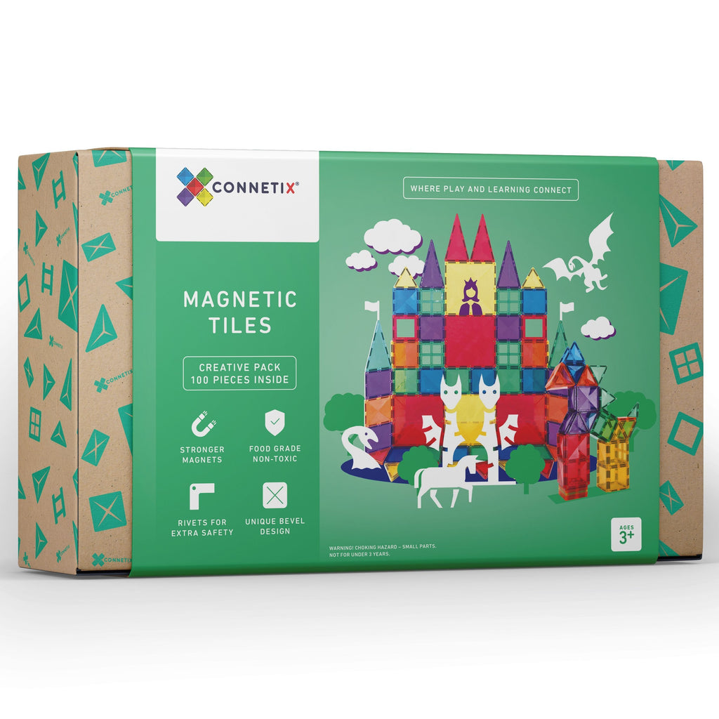 Connetix Tiles 100 Piece Set - Dimple and Dot