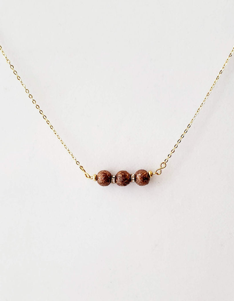 Stassi Sparkle Rose Bead Bar Necklace