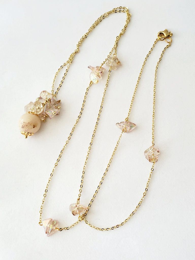 Vionette Orchid Bead Necklace