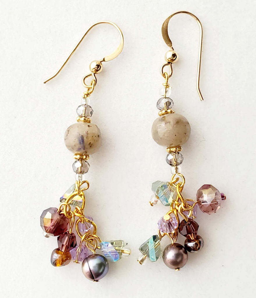 Etienne Lavender Bead Earrings