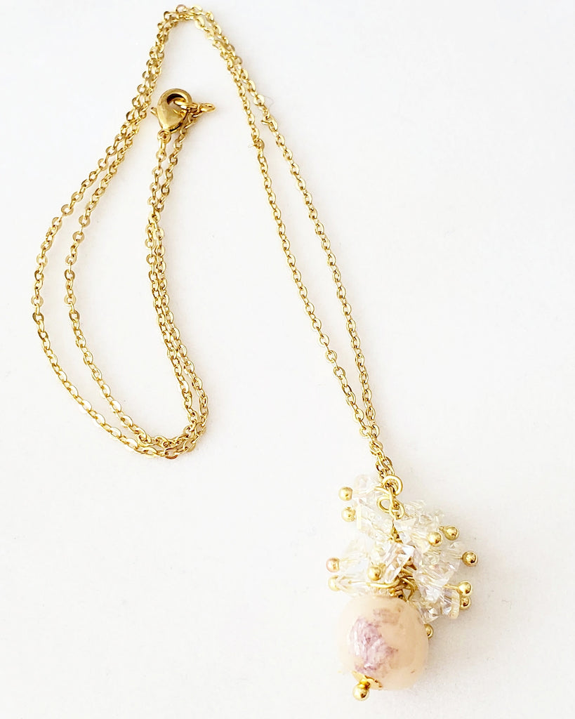 Ophelia Orchid Bead Necklace