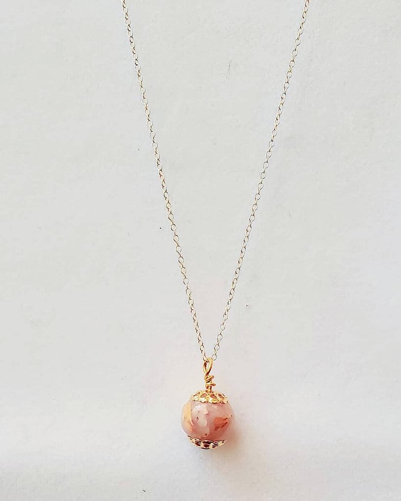 Lisette Rose Bead Necklace