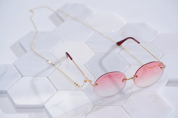 Marianne Sequin Disc Sunglasses Chain