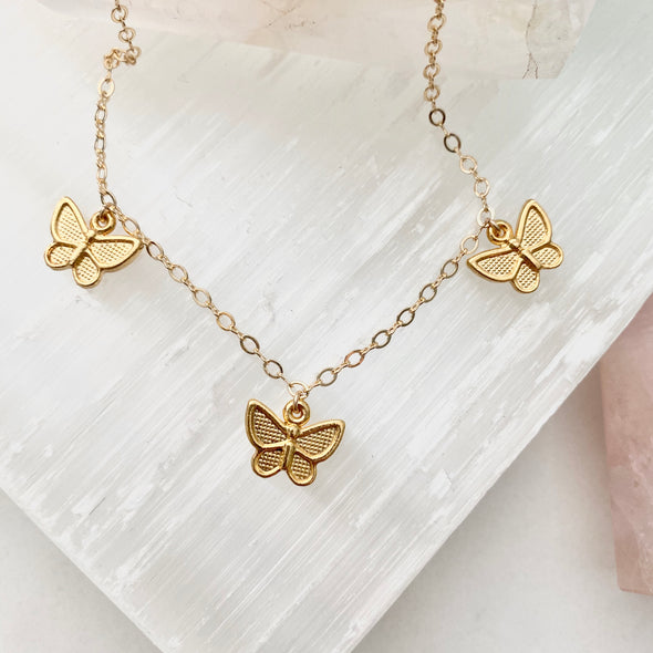 Sydney Butterfly Charm Necklace