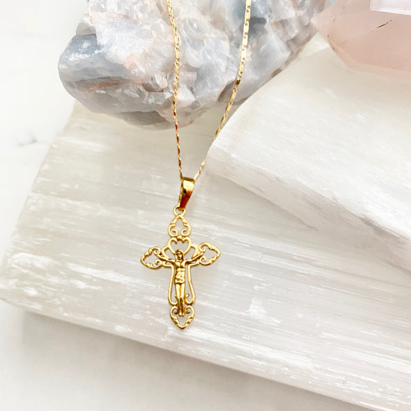 Gold Crucifix Necklace