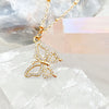 Alina Cubic Zirconia Butterfly Necklace