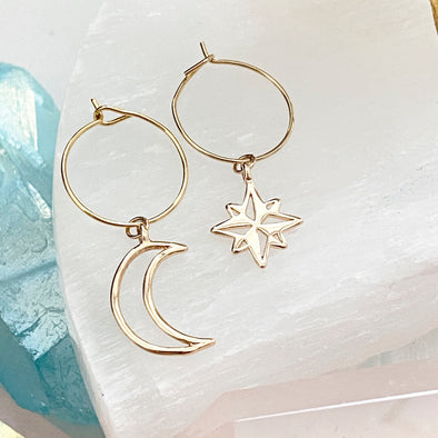 Maggie Moon And Star Hoops