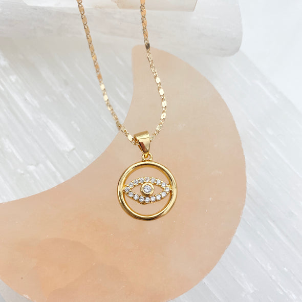Circle Eye Necklace