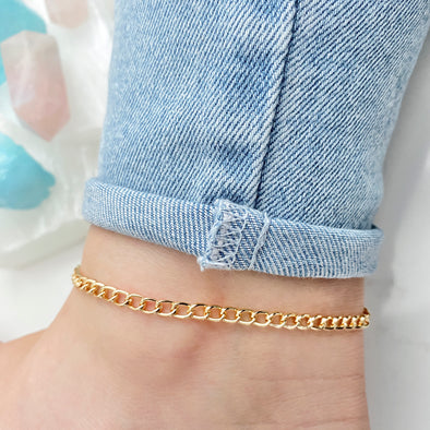 Thick Curb Chain Anklet