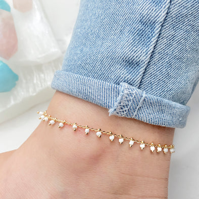 Dangly Beaded Anklet