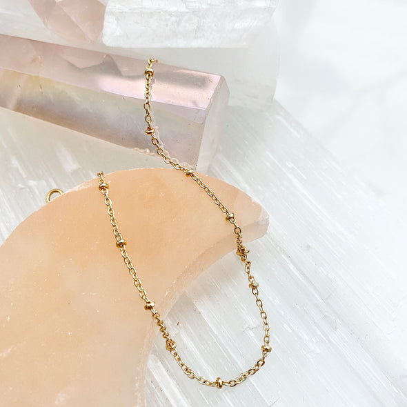 Dainty Satellite Chain Anklet