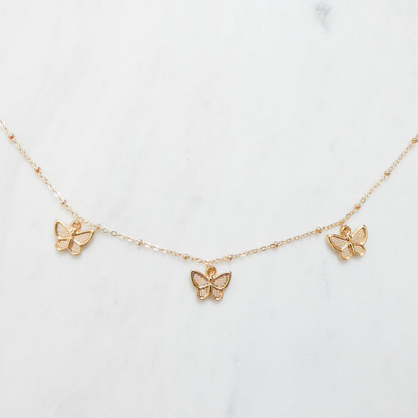 Mariah Butterfly Charm Necklace