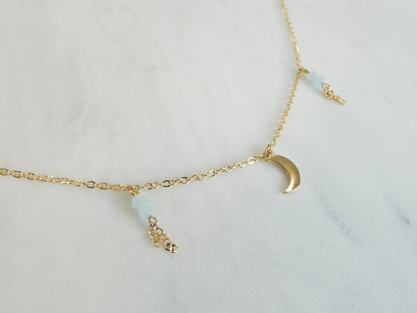 Hollie Moon Charm Dangle Necklace