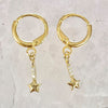 Mini Star Drop Huggie Hoops