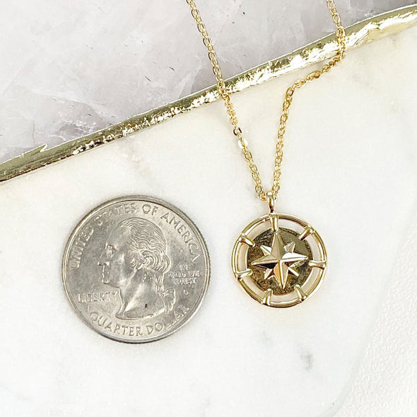 Delilah North Star Coin Necklace
