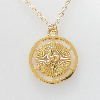 Snake Medallion Necklace