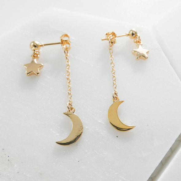 Evie Star & Moon Earrings