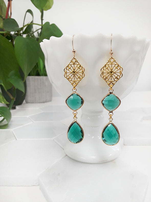 Kayleen Statement Gem Earrings