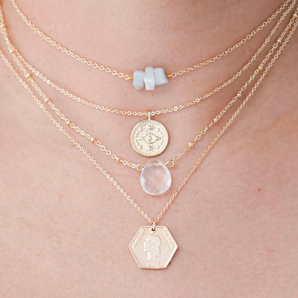 Isabella Gold Filled Coin Necklace