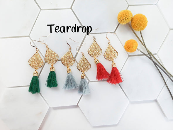 Cora Tassel Filigree Earrings