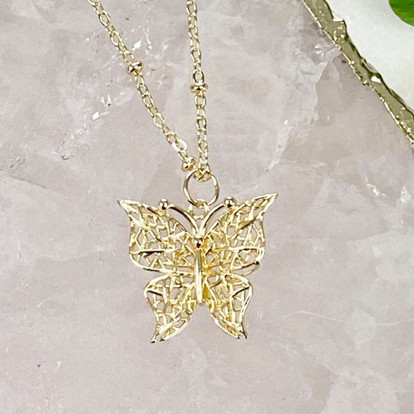 Lacey Butterfly Necklace