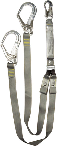 Twin Tail Lanyard Spanset ERGO PLUS shock absorbing with scaffhooks