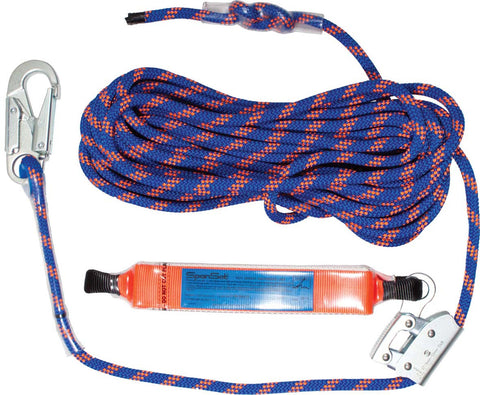Anchorage line - Rope Grab with shock absorber