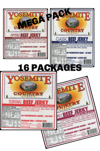 16 Packages, Your Choice,  Any Combination of Jerky!