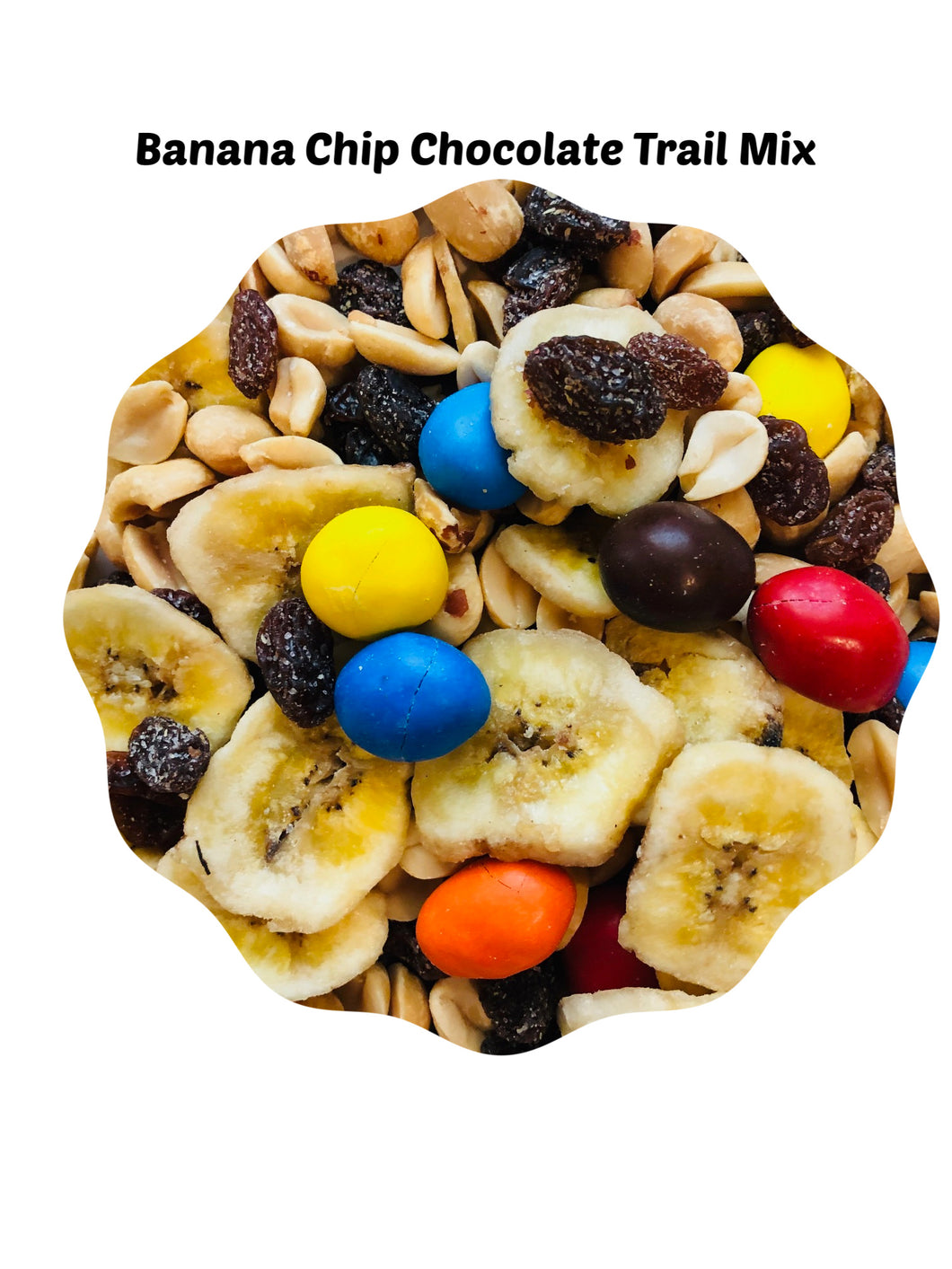 Banana Chip Chocolate Trail Mix, A Set of 4 - 10 oz bags.