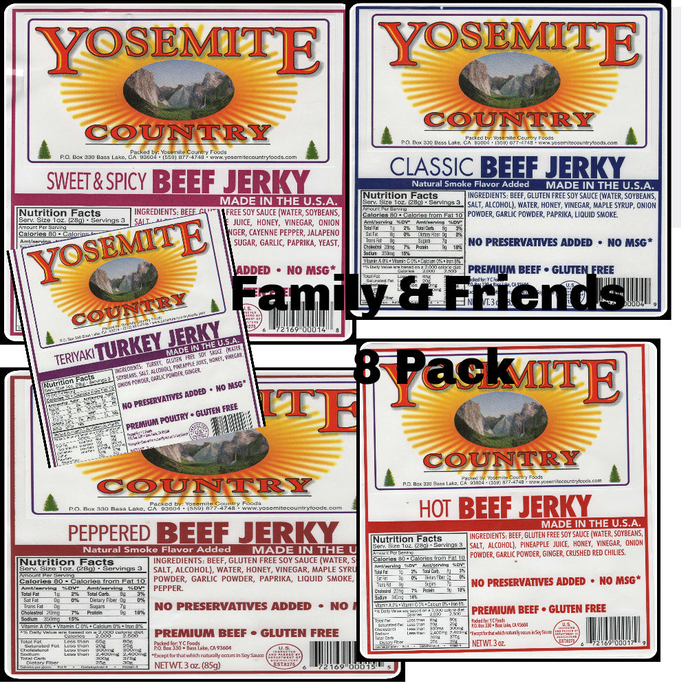 8 Packages, Your Choice,  Any Combination of Jerky!