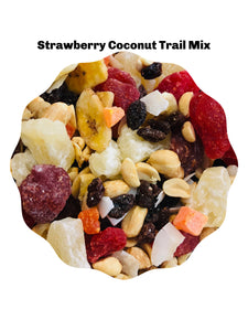 Strawberry Coconut Trail Mix, A Set of 4 -9 oz Bags