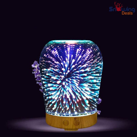 Snowing Deals - Aromatherapy Diffuser - 3D Fireworks