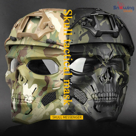 Snowing Deals - Tactical Paintball Skull Mask - Full Gear
