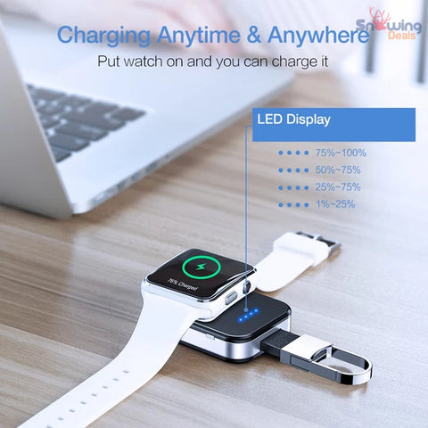 The Best Deals Online - Apple Watch Wireless Charger - LED Display