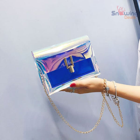 The Best Deals Online - Clear Crossbody Bag - Show Blue
