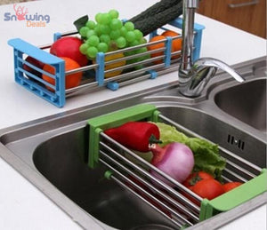 Dish Drying Rack with Drainer - Vegetables