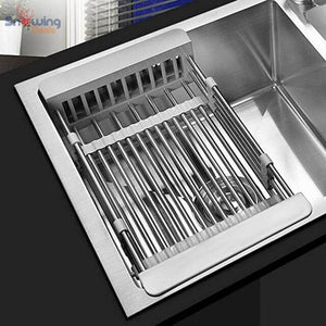 Dish Drying Rack with Drainer - White Rack in Sink