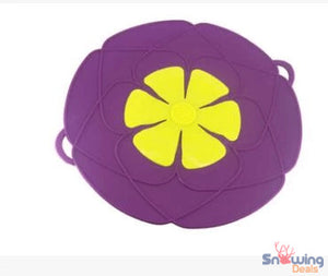 Snowing Deals - Multipurpose Lid Cover & Spill Stopper - Purple