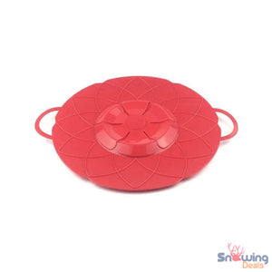 Snowing Deals - Multipurpose Lid Cover & Spill Stopper - Red 1