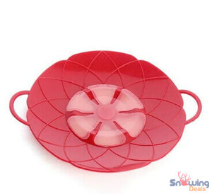 Snowing Deals - Multipurpose Lid Cover & Spill Stopper - Red 2