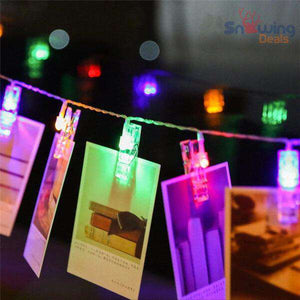 Photo Clip String Lights - Snowing Deals