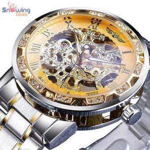 Skeleton Watch For Men - Best Transparent Watch - Snowing Deals